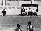 Armido Cologni in panchina durante il torneo di calcio aziendale.