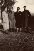 Angelo Nittoli in gita con i colleghi.