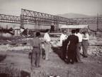 Il Presidente Magrì e i suoi collaboratori in visita al cantiere del nuovo impianto in costruzione.