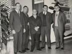 Albino Previtali con i colleghi e il direttore della scuola apprendisti Piero Ruffoni.