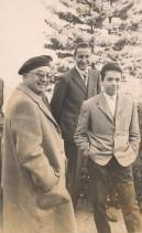 Albino Previtali in gita con i colleghi e il direttore della scuola tecnica aziendale Piero Ruffoni.