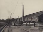 Manutenzione dei binari della linea ferroviaria aziendale.