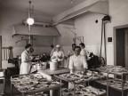 Cucina della colonia alpina aziendale Mario Garbagni.