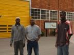 Lavoratori in visita agli impianti.
