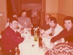 Enrico Castelli a cena con i colleghi del reparto aggiustaggio.