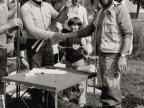 Gianfranco Pellizzoli a una gara con la sezione pesca del Cral aziendale.