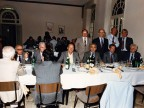 Elia Grazioli a cena con gli ex allievi della scuola tecnica aziendale.