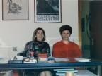 Franca Fiorendi con una collega negli uffici del Centro tubi in resine.