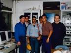 Flavio Gallarini con i colleghi della fabbrica tubi medi.