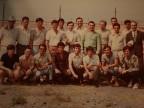 Franco Nappo in una foto di gruppo al torneo di calcio aziendale.