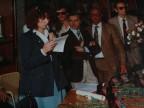 Franco Nappo con i colleghi a un evento aziendale.