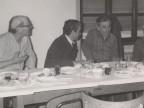 Guido Castelli in convivio con i colleghi.