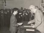Giancarlo Bonetti giovanissimo premiato con una borsa di studio aziendale.