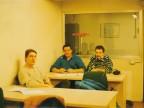 Graziano Cortesi in aula con i colleghi.