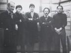 Giuseppe Lardo con i colleghi del laboratorio.