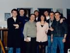 Giuseppe Lardo in una foto di gruppo con i colleghi di lavoro.