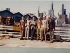 Giorgio Lania e colleghi in visita in uno stabilimento siderurgico.