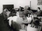 Gisberto Ianni in riunione con i colleghi degli uffici aziendali.