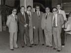 Gisberto Ianni con in colleghi durante un evento aziendale.