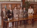 Gisberto Ianni con i colleghi a un evento aziendale.