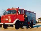 Pasquale Bove sul camion antincendio.