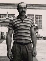 Roberto Caccia ritratto all'interno dello stabilimento.