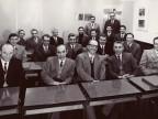 Tarcisio Carati e altri colleghi a un corso aziendale per tecnici.