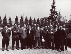 Tarcisio Carati con i colleghi.