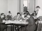 Vito Vardanega con i colleghi durante un corso aziendale.