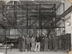 Foto di gruppo tra i colleghi del reparto laminazione.