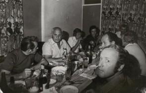 Giuseppe Boffetti durante una cena con i colleghi.
