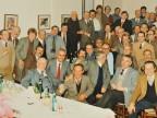Angelo Facoetti a cena con i colleghi del reparto attrezzeria.