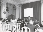 Vittorio Bolognini a un meeting di industriali nel capoluogo ligure.