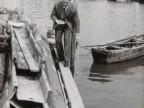 Vittorio Bolognini a lavoro a Porto Marghera.