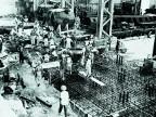Cantiere per la costruzione dell'acciaieria.