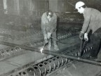 Sample cutting at the cooling bed. The 1980s