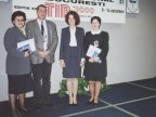 Team di Marketing alla Fiera Internazionale di Bucarest. 2000
