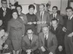 Giovanni Suardi insieme ad alcuni colleghi dell'Ufficio del Gruppo produzione.