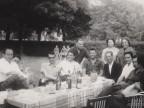 Giorgio Olivato con un gruppo di amici.
