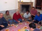 Graziano Carnevali insieme ad alcuni colleghi durante una cena tipica iraniana