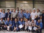 Severo Ravasio e il team Dalmine festeggiano la laminazione del primo tubo