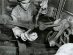Manovre di aggancio agli scambi ferroviari. 1961