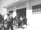 Uscita degli operai dallo stabilimento. 1950