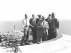 Il marchese Piero Ridolfi in visita. 1955