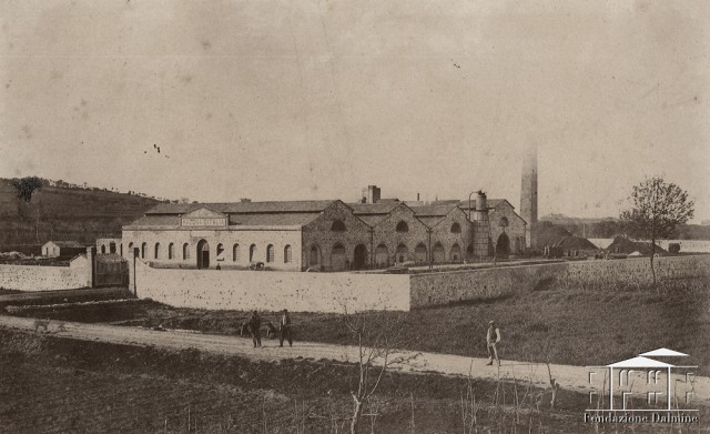 Panoramica dello stabilimento Novello Ponsard Gigli - La Magona d'Italia. 1866