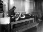 Calcio Piombino, il massaggiatore. 1950