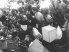Bambini in partenza per le colonie estive. 1948