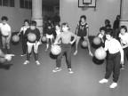 Corsi ginnici alla palestra dei Diaccioni. 1973