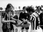 Partita di calcio Piombino - Juventus. Anni '70