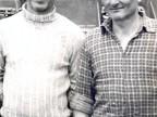 Franco Benvenuti e il collega Sodi all'officina TAT.